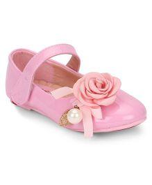 Bash Bellies Velcro Closure Floral & Pearl Motif - Pink