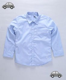 Milonee Solid Pattern Shirt - Blue