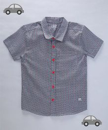 Milonee Motif Printed Shirt - Black
