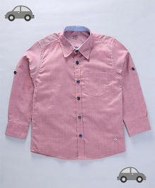 Milonee Basic Solid Colour Shirt - Pale Pink