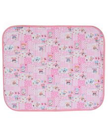 1st Step Bed Protector Teddy Print - Pink