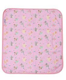 1st Step Bed Protector Animals Print - Pink