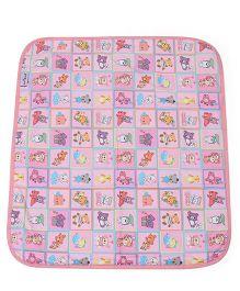 1st Step Bed Protector Honey Bear Print - Pink