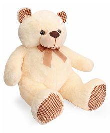 Dimpy Stuff Teddy Bear Soft Toy With Check Pow Cream - 70 cm