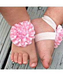 Akinos Kids Flower Walker Barefoot Sandal - Light Pink