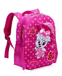 T-Bags Kitty With Umbrella Waterproof Backpack Pink - 13 Inches