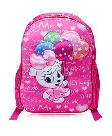 T-Bags Kitty With Balloon Waterproof Backpack - 13 Inches