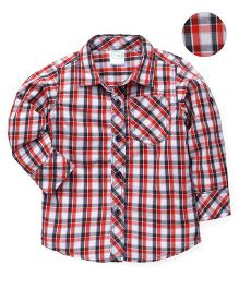 Babyhug Full Sleeves Checks Design Shirt - Red