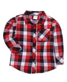 Babyhug Full Sleeves Checks Shirt - Red