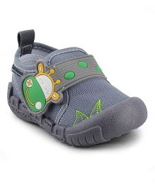 Kittens Canvas Shoes Hippo Design - Grey