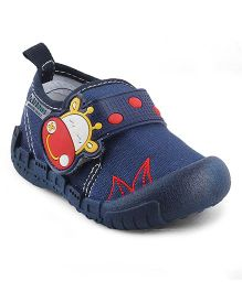 Kittens Canvas Shoes Hippo Design - Navy