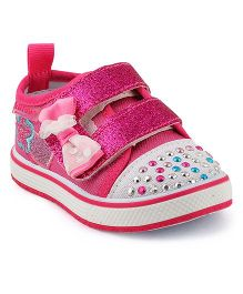 Kittens Bead Embellished Sneakers - Fuchsia Pink
