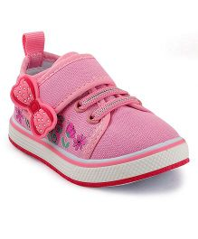 Kittens Floral Bow Sneakers - Pink