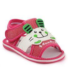 Kittens Sandals Motif Design - Fuchsia Pink