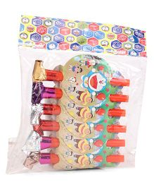 Doraemon Blowout Horns Pack Of 6 (Color May Vary)