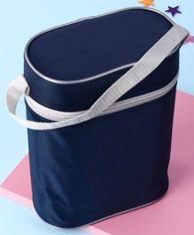 Insulated Double Bottle Bag Rectangular Shape - Navy