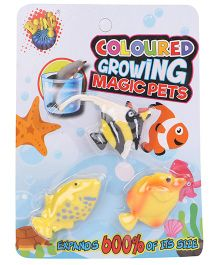 Karma Boing Colored Growing Magic Ocean Fish Set Of 3 - Yellow