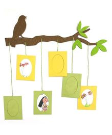 Two For Joy Family Photoframe - Yellow Green Brown