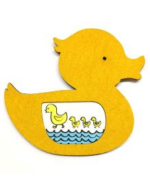 Two For Joy Duck Magnetic Photoframe - Yellow