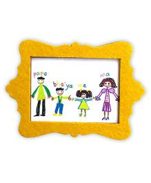 Two For Joy Family Magnetic Photoframe - Yellow
