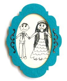Two For Joy Ornate Magnetic Photoframe - Blue