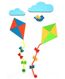 Two For Joy Kites Wall Decal Decor - Multicolor