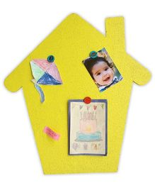 Two For Joy House Pinboard - Yellow