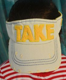 Tipy Tipy Tap Denim Distressed Infant Cap - Yellow