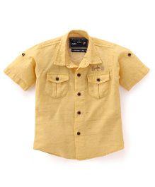 Jash Kids Half Sleeves Shirt - Gold Yellow