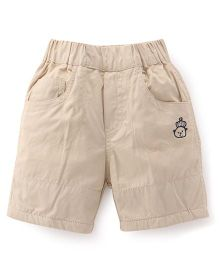 Jash Kids Solid Color Shorts - Light Fawn
