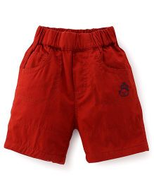 Jash Kids Solid Color Shorts - Rust Red