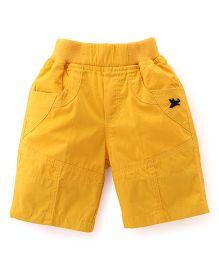 Jash Kids Three Fourth Pants - Mustard Yellow