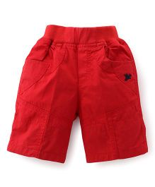 Jash Kids Three Fourth Pants - Dark Red