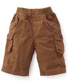 Jash Kids Three Fourth Pants - Brown