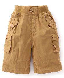 Jash Kids Three Fourth Pants - Khaki