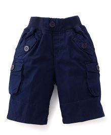 Jash Kids Three Fourth Pants - Ink Blue