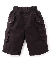 Jash Kids Three Fourth Pants - Dark Grey