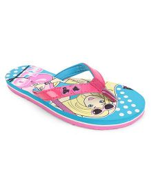 Barbie Flip Flops - Pink And Blue