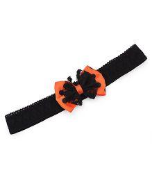 Funkrafts Bow Headband - Orange & Black