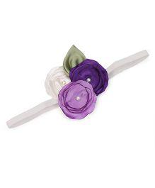 Funkrafts Triple Flower Design Headband - Mauve