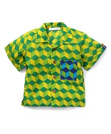 Eight Thousand Miles Classic Shirt With Contrast Pocket For Boys - Light Green