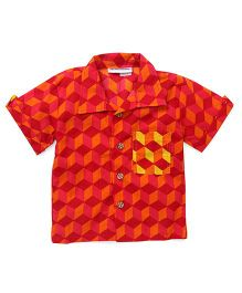Eight Thousand Miles Classic Shirt With Contrast Pocket For Boys - Orange