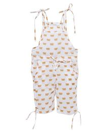 Eight Thousand Miles Singlet Printed Jumpsuit - White Light Brown