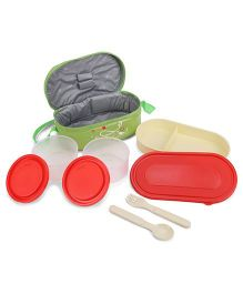 Cello Full On Lunch Box With Bag - Green