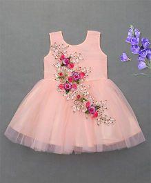 Enfance Elegent Party Wear Dress - Peach