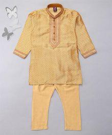 Enfance Ethnic Wear Kurta & Churidar Set - Golden