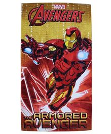 Marvel Towel Ironman Printed With Gift Box - Red