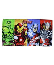 Marvel Printed Towel Avengers Print With PVC Gift Box - Multi Color