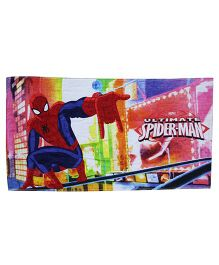 Marvel Printed Towel Ultimate Spider-Man Print With PVC Gift Box - Multi Color