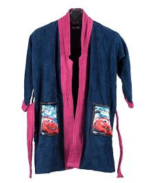 Disney Baby Bathrobe Pixar Cars Print - Blue